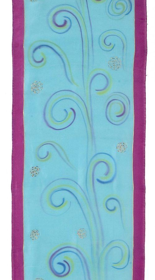 foulard-pez-magenta-mariposa